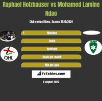Raphael Holzhauser vs Mohamed Lamine Ndao h2h player stats