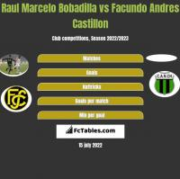 Raul Marcelo Bobadilla vs Facundo Andres Castillon h2h player stats