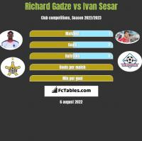 Richard Gadze vs Ivan Sesar h2h player stats