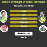 Richard Strebinger vs Pascal Gruenwald h2h player stats