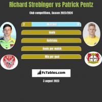 Richard Strebinger vs Patrick Pentz h2h player stats