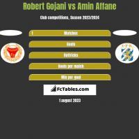 Robert Gojani vs Amin Affane h2h player stats