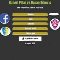 Robert Pillar vs Dusan Brkovic h2h player stats