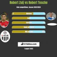 Robert Zulj vs Robert Tesche h2h player stats