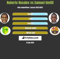 Roberto Rosales vs Samuel Umtiti h2h player stats