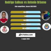 Rodrigo Salinas vs Antonio Briseno h2h player stats