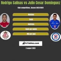 Rodrigo Salinas vs Julio Cesar Dominguez h2h player stats