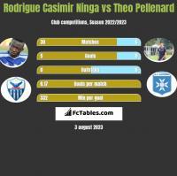Rodrigue Casimir Ninga vs Theo Pellenard h2h player stats