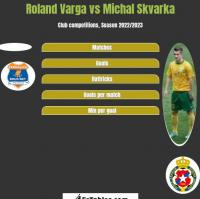 Roland Varga vs Michal Skvarka h2h player stats
