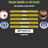 Roman Hubnik vs Jiri Krejci h2h player stats