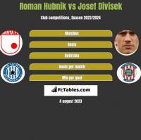 Roman Hubnik vs Josef Divisek h2h player stats