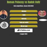 Roman Potocny vs Radek Voltr h2h player stats