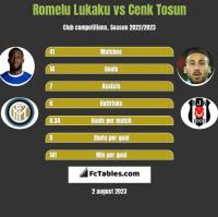 Romelu Lukaku vs Cenk Tosun h2h player stats