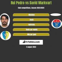Rui Pedro vs David Markvart h2h player stats