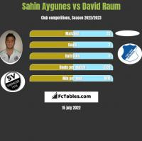 Sahin Aygunes vs David Raum h2h player stats