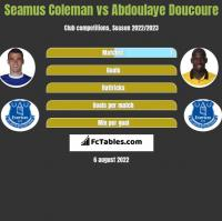 Seamus Coleman vs Abdoulaye Doucoure h2h player stats