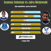 Seamus Coleman vs Jairo Riedewald h2h player stats