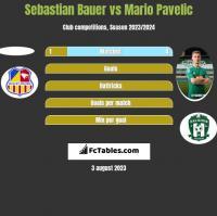 Sebastian Bauer vs Mario Pavelic h2h player stats