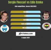 Sergio Floccari vs Edin Dzeko h2h player stats
