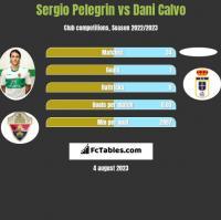 Sergio Pelegrin vs Dani Calvo h2h player stats