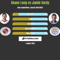 Shane Long vs Jamie Vardy h2h player stats