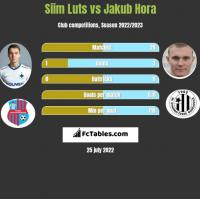 Siim Luts vs Jakub Hora h2h player stats