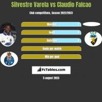 Silvestre Varela vs Claudio Falcao h2h player stats