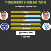 Stefan Haudum vs Dominik Frieser h2h player stats