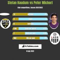 Stefan Haudum vs Peter Michorl h2h player stats