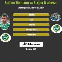 Steffen Hofmann vs Srdjan Grahovac h2h player stats