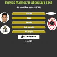 Stergos Marinos vs Abdoulaye Seck h2h player stats