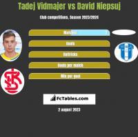Tadej Vidmajer vs David Niepsuj h2h player stats