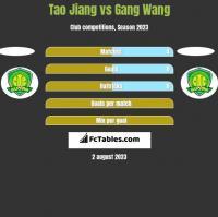 Tao Jiang vs Gang Wang h2h player stats