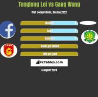 Tenglong Lei vs Gang Wang h2h player stats