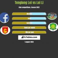 Tenglong Lei vs Lei Li h2h player stats