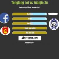 Tenglong Lei vs Yuanjie Su h2h player stats