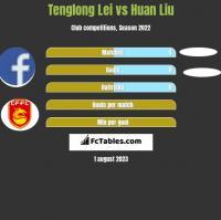 Tenglong Lei vs Huan Liu h2h player stats