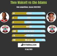 Theo Walcott vs Che Adams h2h player stats