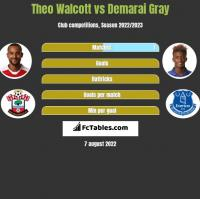 Theo Walcott vs Demarai Gray h2h player stats