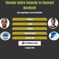 Theodor Gebre Selassie vs Haavard Nordtveit h2h player stats