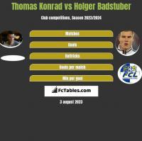 Thomas Konrad vs Holger Badstuber h2h player stats