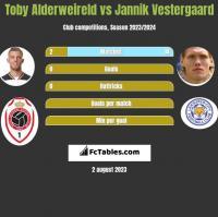 Toby Alderweireld vs Jannik Vestergaard h2h player stats