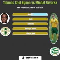 Tokmac Chol Nguen vs Michal Skvarka h2h player stats