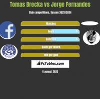 Tomas Brecka vs Jorge Fernandes h2h player stats