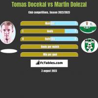 Tomas Docekal vs Martin Dolezal h2h player stats