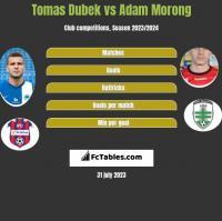 Tomas Dubek vs Adam Morong h2h player stats