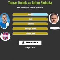 Tomas Dubek vs Anton Sloboda h2h player stats