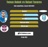 Tomas Dubek vs Rafael Tavares h2h player stats