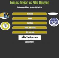 Tomas Grigar vs Filip Nguyen h2h player stats