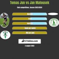 Tomas Jun vs Jan Matousek h2h player stats